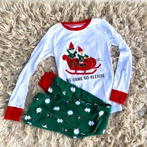 "EUC L/10 Old Navy Christmas PJ's ""Came to Sleigh"""